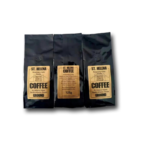 St Helena ground coffee, one two or three bags